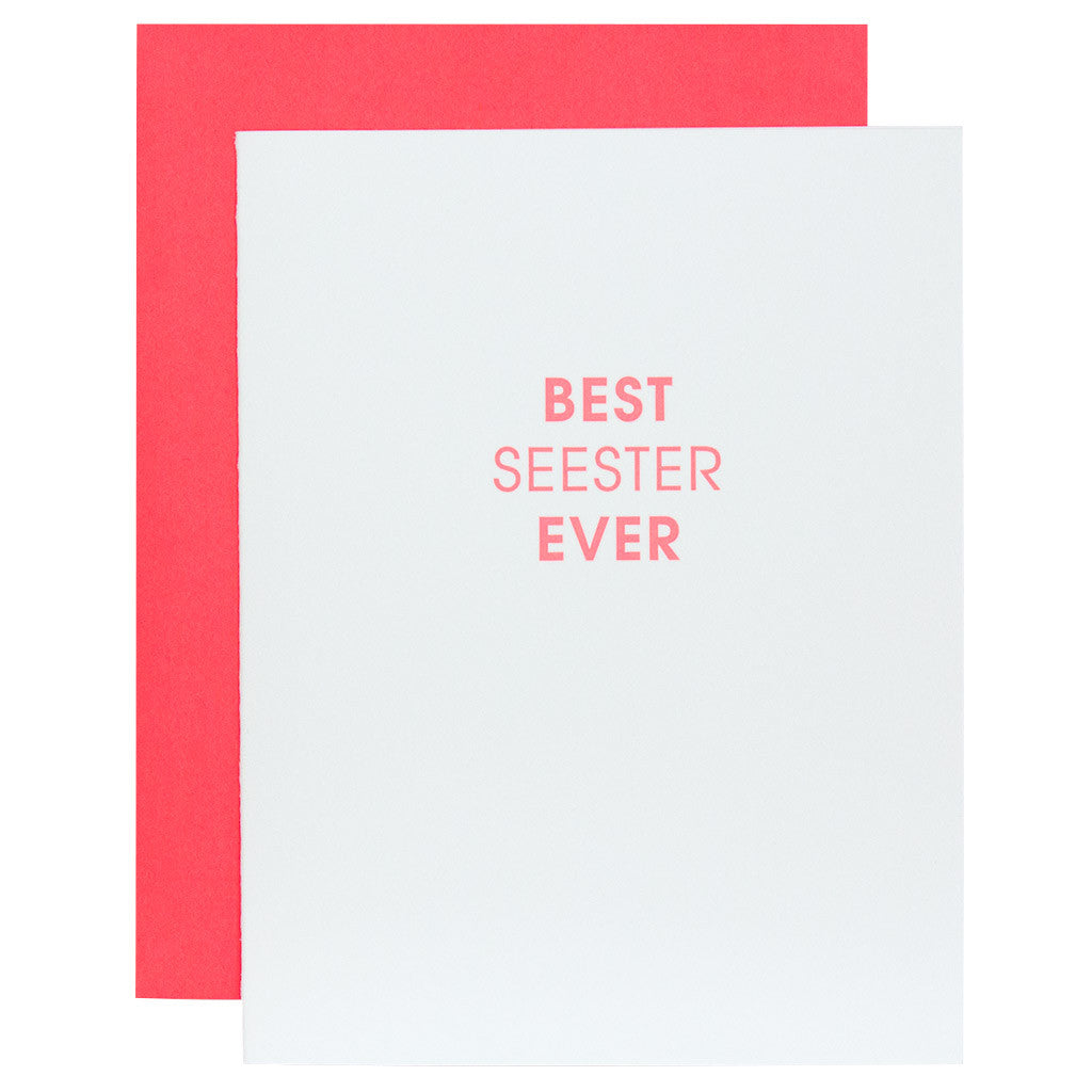 Best Seester Ever Letterpress Card