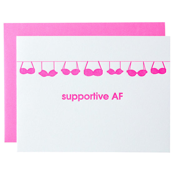 Supportive AF Letterpress Card