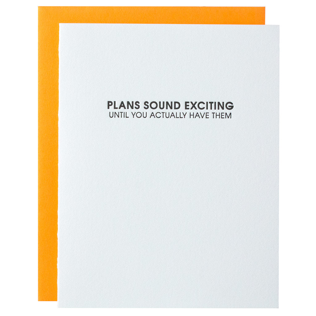 Plans Sound Exciting Letterpress Card