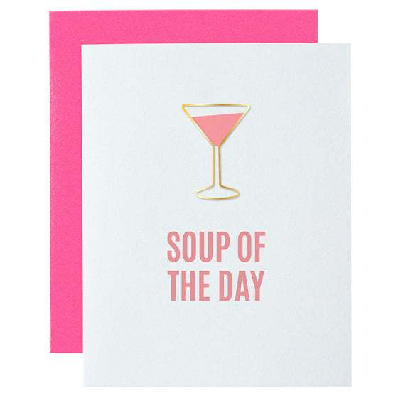 Soup of the Day Paper Clip Letterpress Card