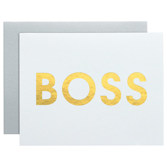 Boss Letterpress Card