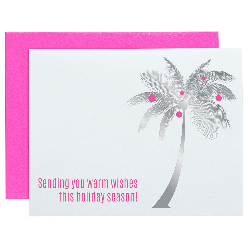 Sending You Warm Wishes Palm Letterpress Card