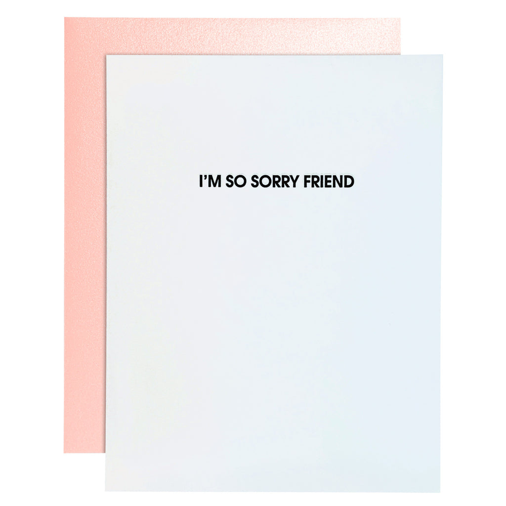 I'm So Sorry Friend Letterpress Card Photo