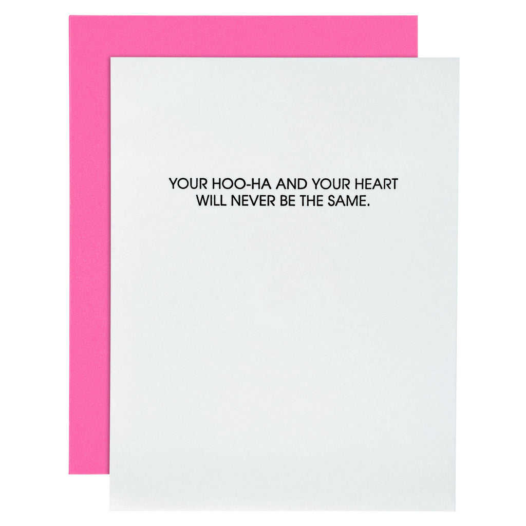Your Hoo-Ha And Your Heart Letterpress Card