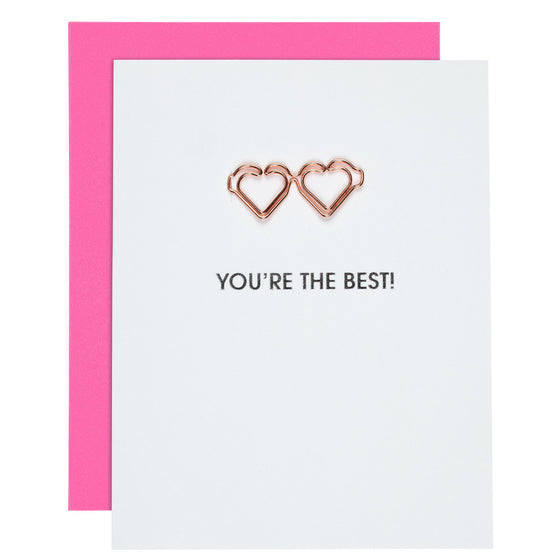 You're the Best Paper Clip Foil Letterpress Card