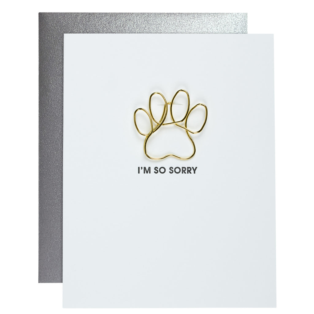 I'm So Sorry Paw Paper Clip Card