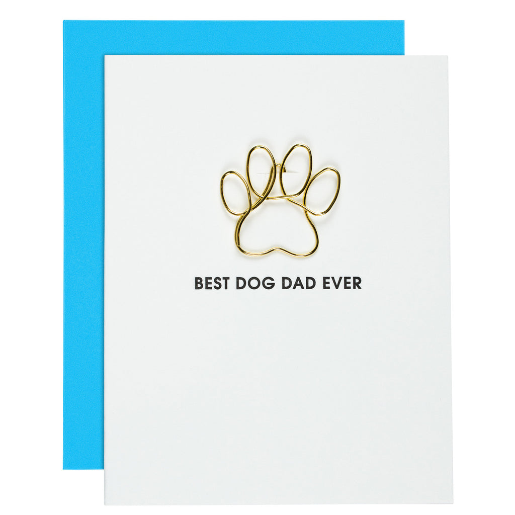 Best Dog Dad Ever Letterpress Card