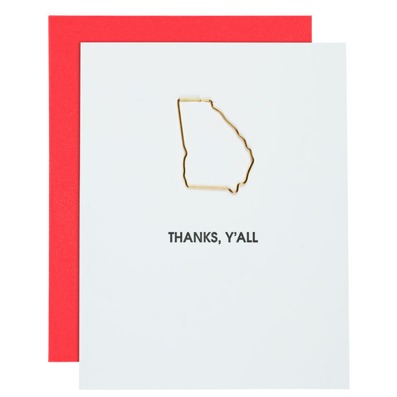Thanks, Y'all Georgia Paper Clip Card