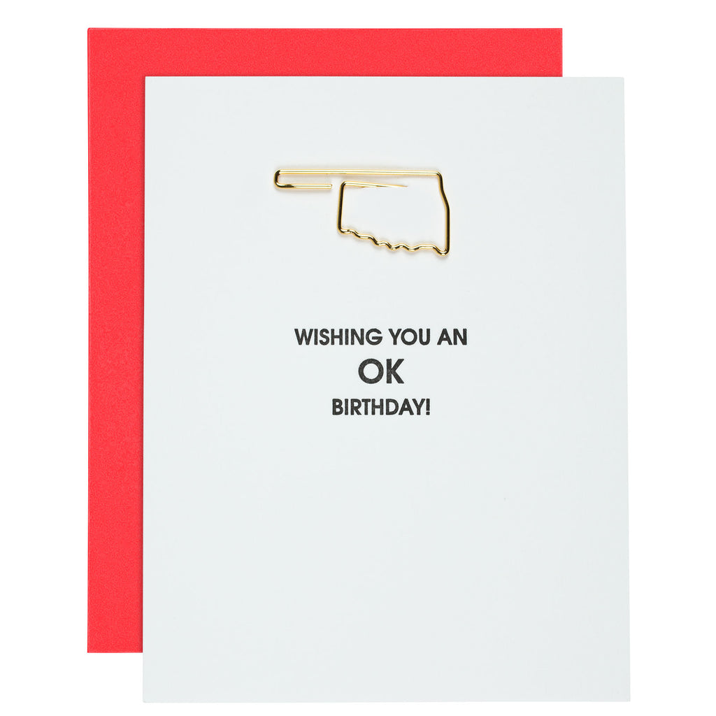 Wishing You an OK Birthday Letterpress Card