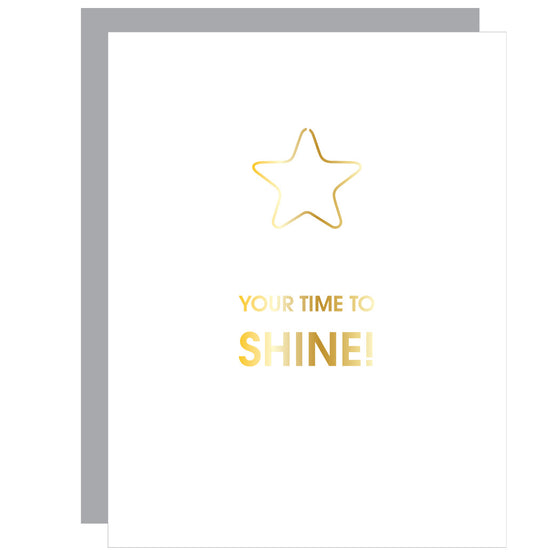 Your Time to Shine | Star Paper Clip Letterpress Card