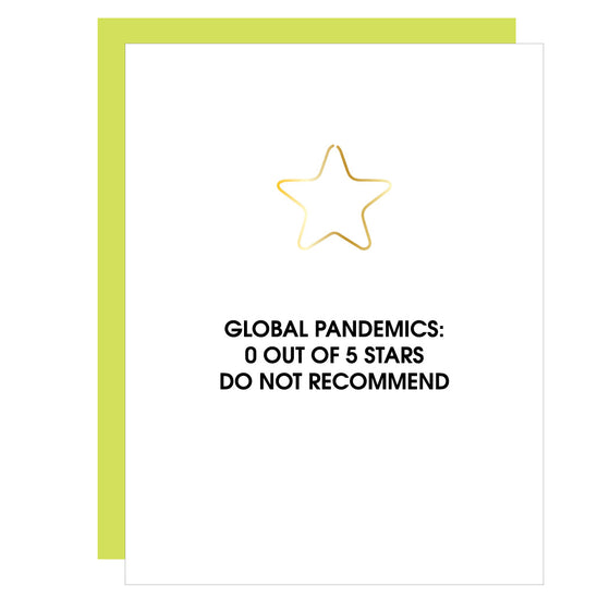 Global Pandemics 0 out of 5 | Star Paper Clip Letterpress Card