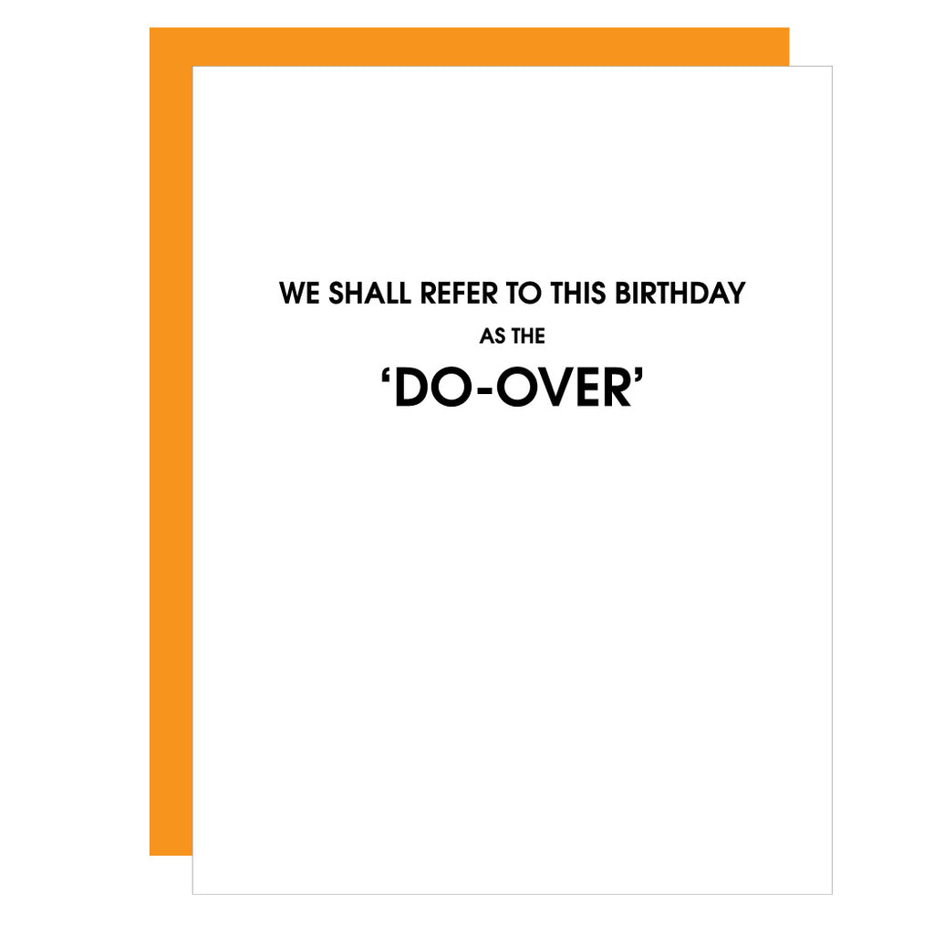 The Do-Over Birthday | Funny Birthday Letterpress Card