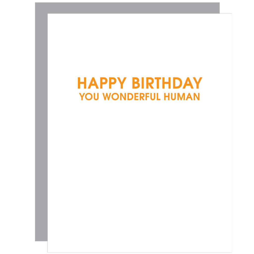 Wonderful Human | Birthday Letterpress Card