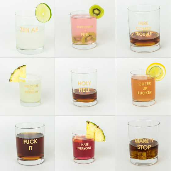 2020 Cocktail Mood 12 pack of Rocks Glasses by Chez Gagné