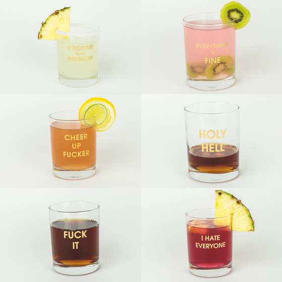 2020 Cocktail Mood 6 Pack of Rocks Glasses by Chez Gagné