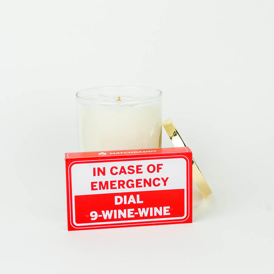 MATCHDADDY In Case of Emergency Dial 9-Wine-Wine Hilarious Wine Lover Matchbox