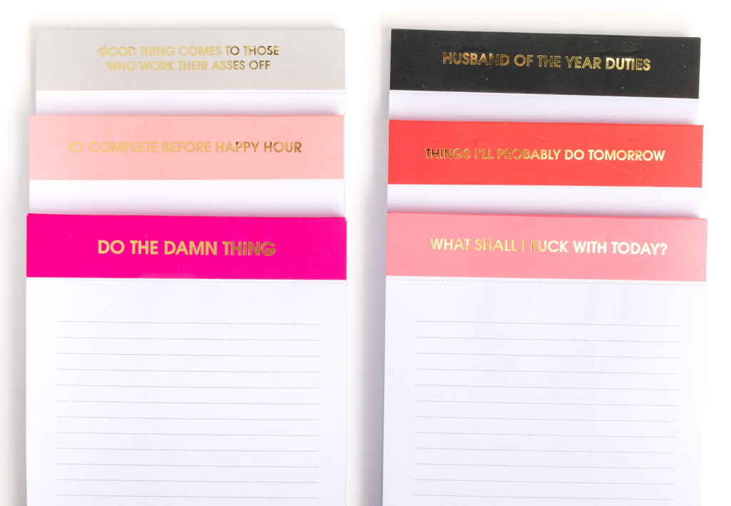 Chez Gagne Chez Gagné Things I'll Probably Do Tomorrow - Notepad