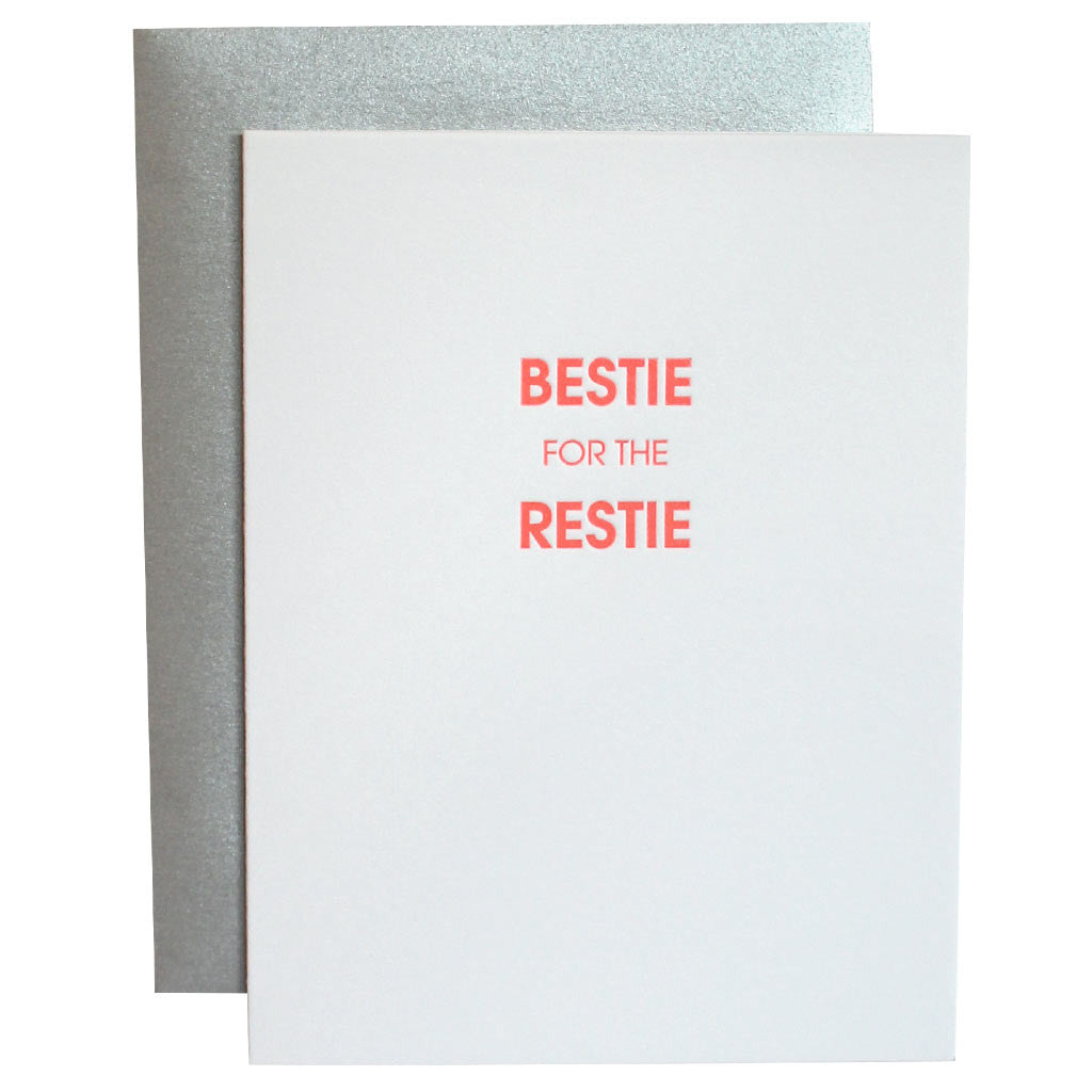 Bestie for the Restie Letterpress Card