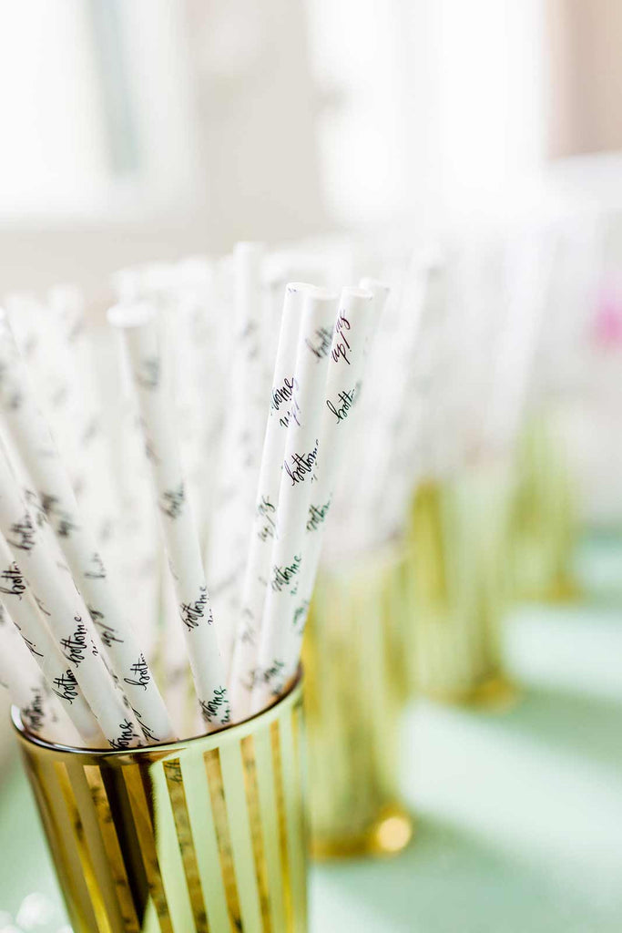 Bottoms Up Paper Straws