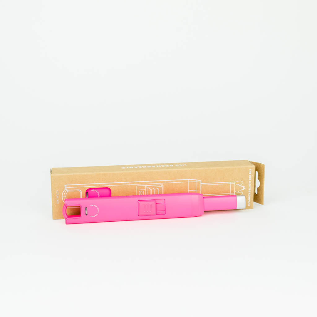 Rechargeable USB Lighter by The USB Lighter Company. Neon Pink Lighter