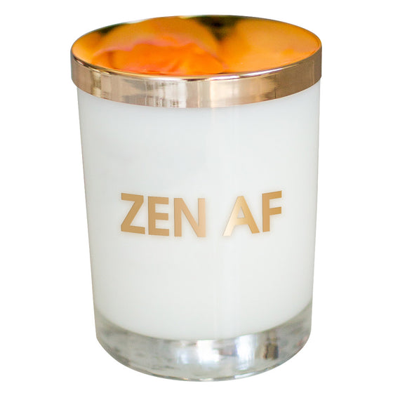 Zen AF Candle - Gold Foil Rocks Glass