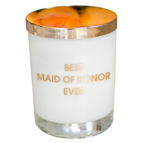 Best Maid of Honor Ever Candle - Gold Foil Rocks Glass
