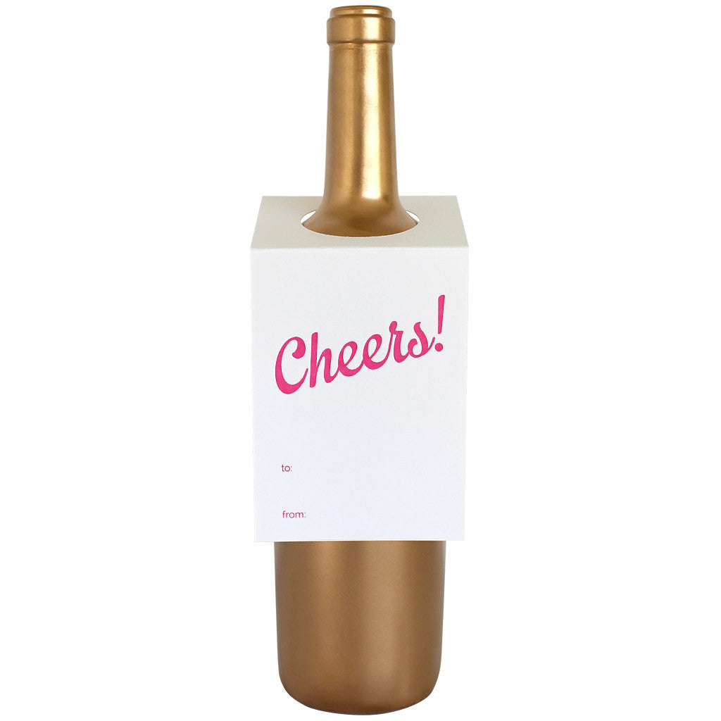 Cheers Script Wine & Spirit Tag