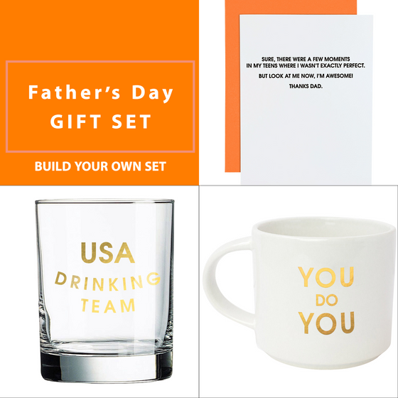 Father's Day Gift Set - Rocks Glass & Mug