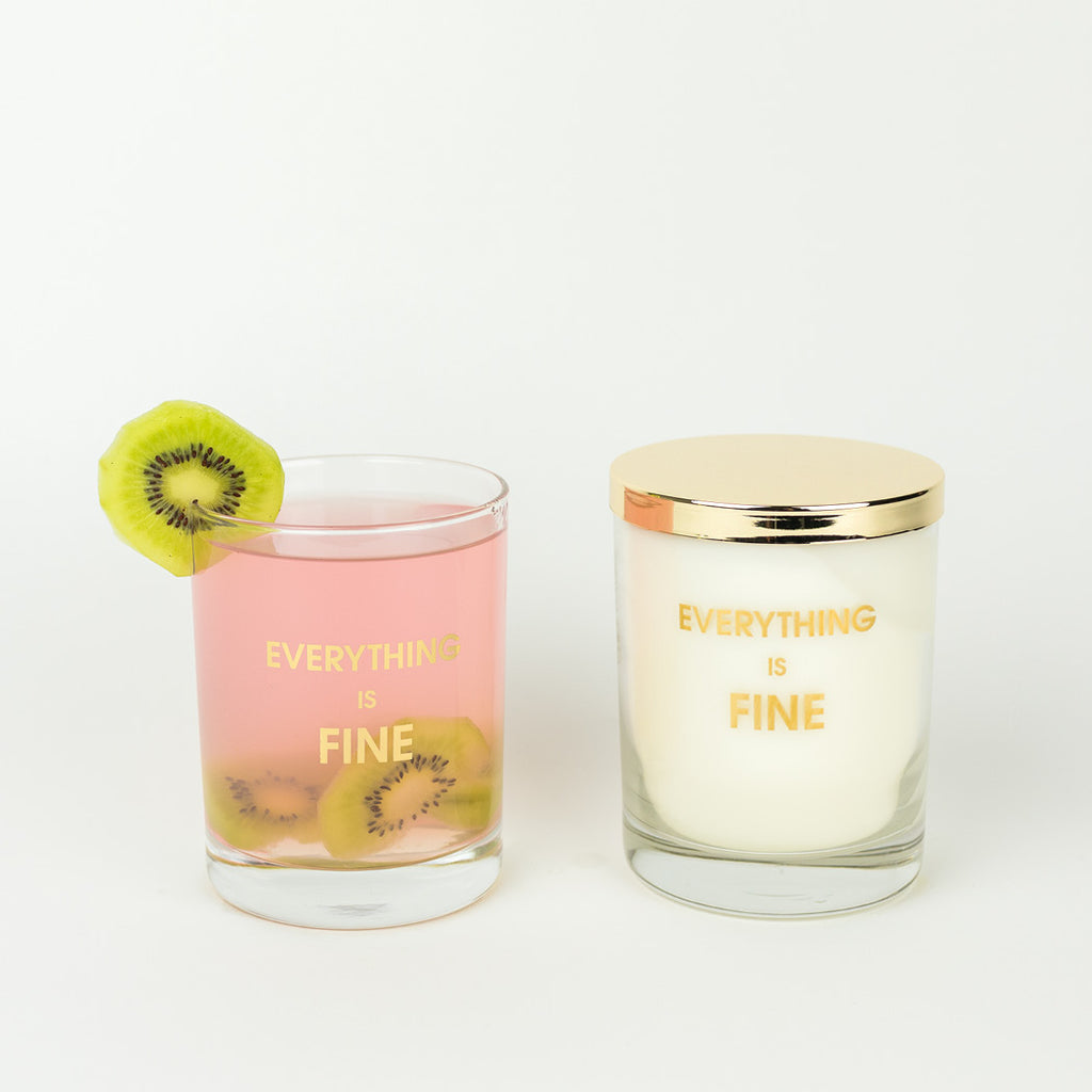 Everything is Fine Candle on the Rocks by Chez Gagne