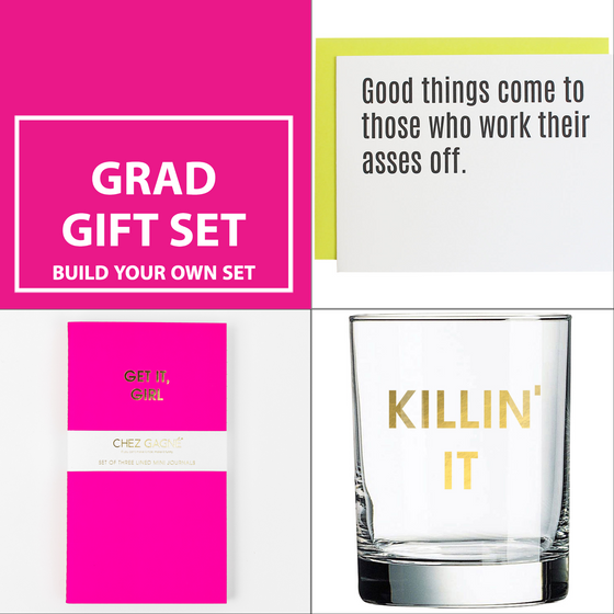 Gift For Grads! Rocks Glass & Journals