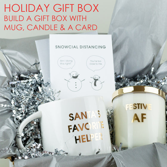 Holiday Gift Set - Candle, Mug & Card