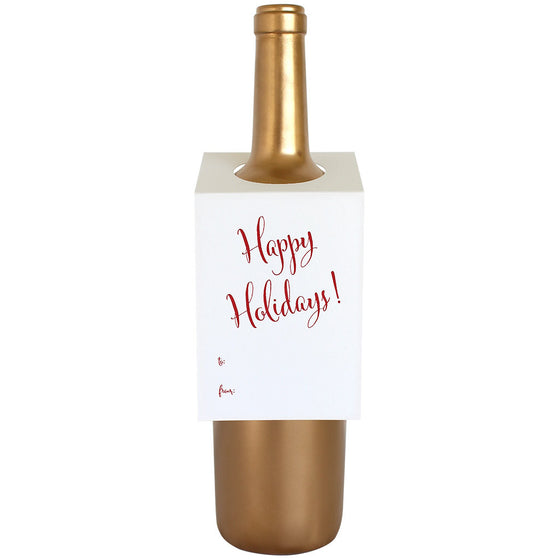 Happy Holidays Wine & Spirit Tag
