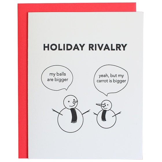 Holiday Rivalry Greeting Card
