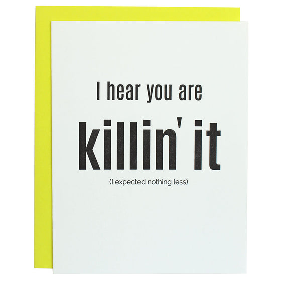 Killin' It Congratulations Letterpress Card