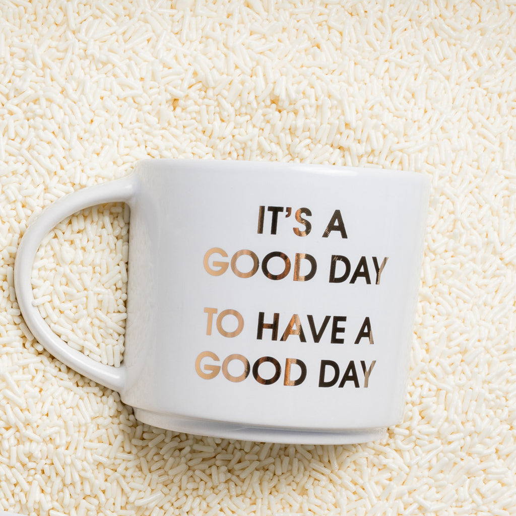 Morning Pep Talk Coffee Mug by Chez Gagné
