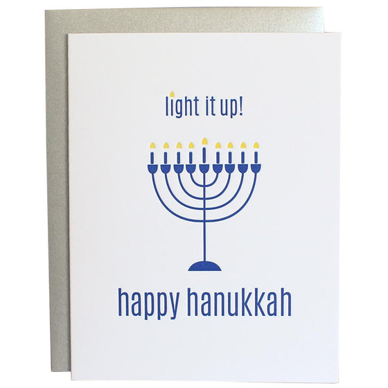 Light It Up Happy Hannukah Greeting Card