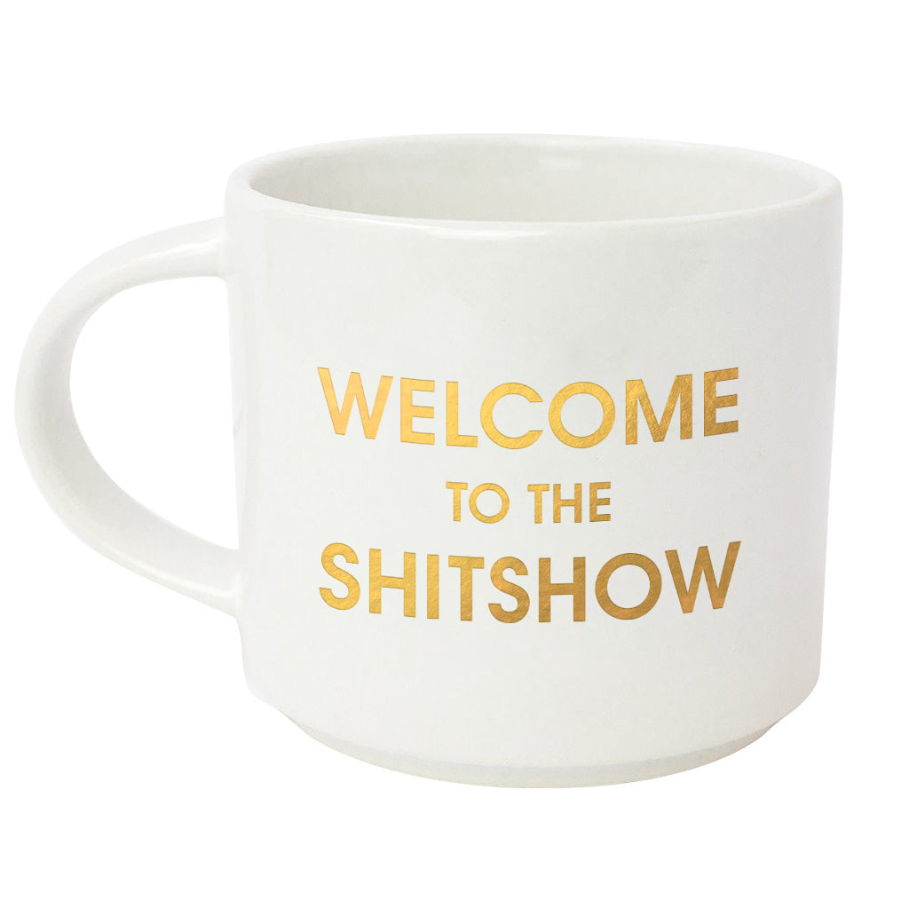 Welcome to the Shitshow Metallic Gold Mug