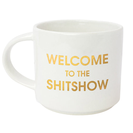 Welcome to the Shitshow Metallic Gold Mug (Slight Imperfections)