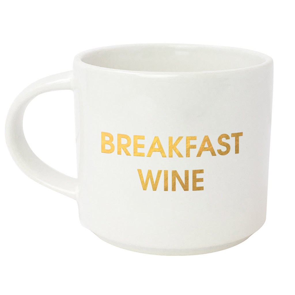 Breakfast Wine Gold Metallic Mug (Slight Imperfections)