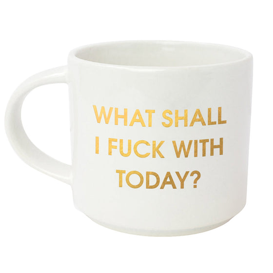 What Shall I Fuck With Gold Metallic Mug