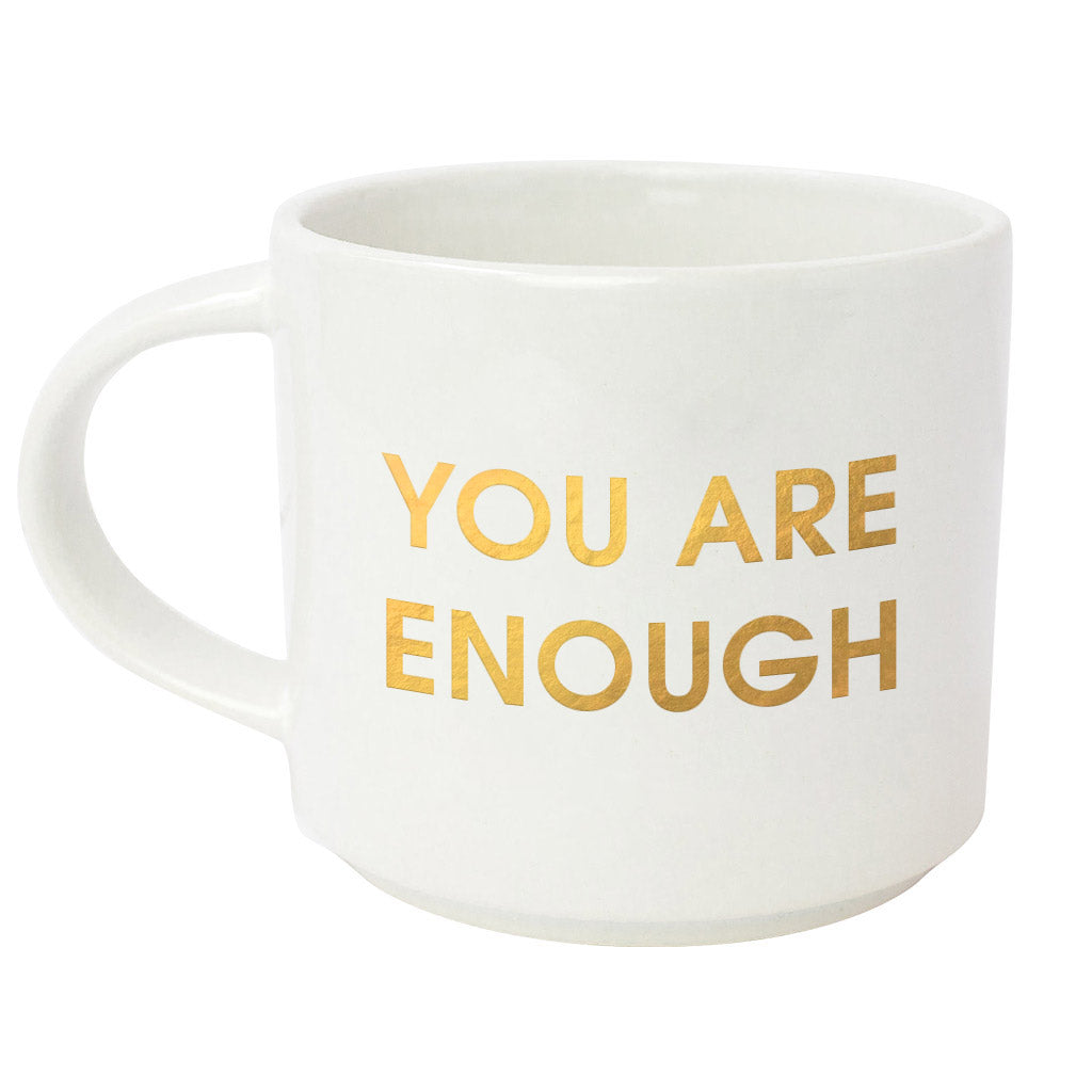 Chez Gagne Chez Gagné You Are Enough Metallic Gold Mug