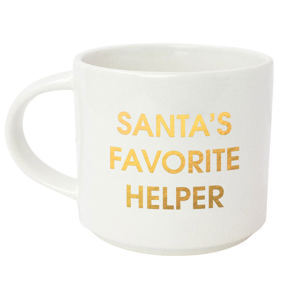 Santa's Favorite Helper Metallic Gold Mug