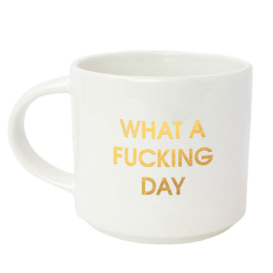 What A Fucking Day Metallic Gold Mug