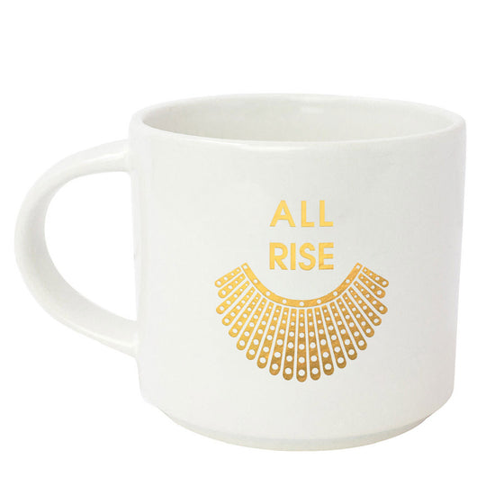 All Rise - RBG Collar Gold Metallic Mug
