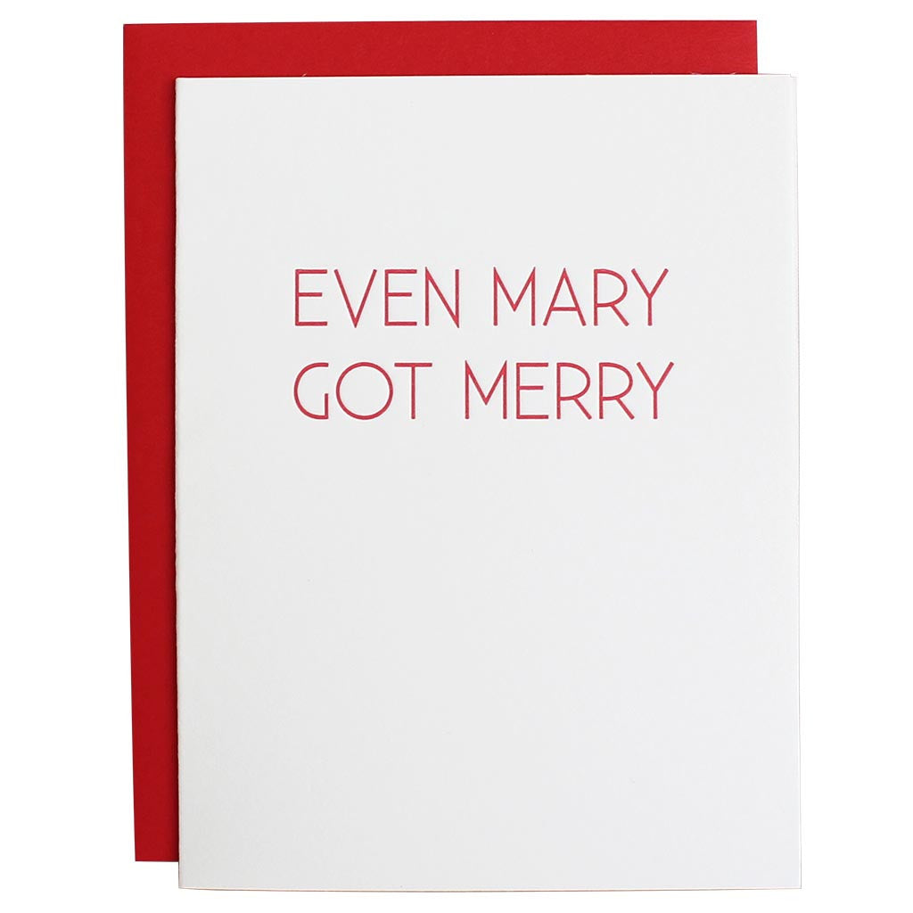 Even Mary Got Merry Letterpress Card