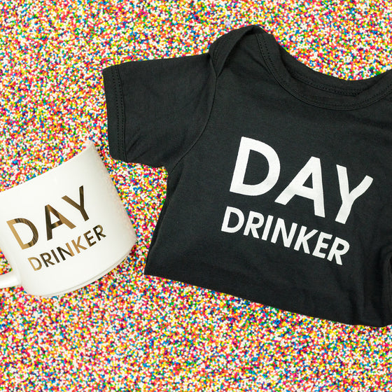 Mommy & Me - Day Drinker Onesie & Coffee Mug Set