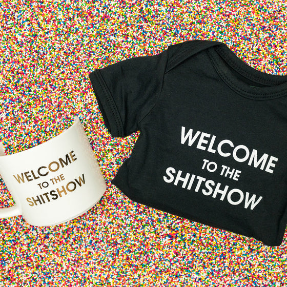 Mommy & Me - Welcome to The Shitshow Onesie & Coffee Mug Set