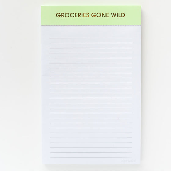 Groceries Gone Wild - Notepad