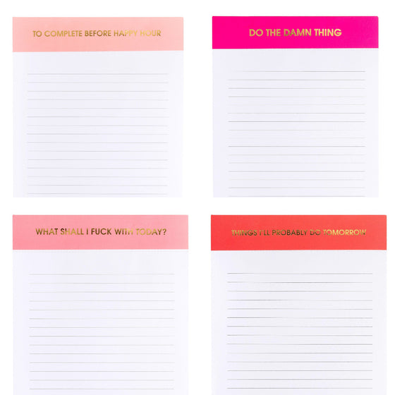 Notepad - 4 Pack