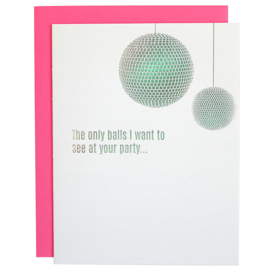 The Only Balls I Want to See Holographic Foil Letterpress Card